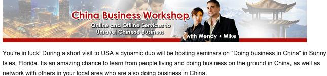 china business workshop michelini