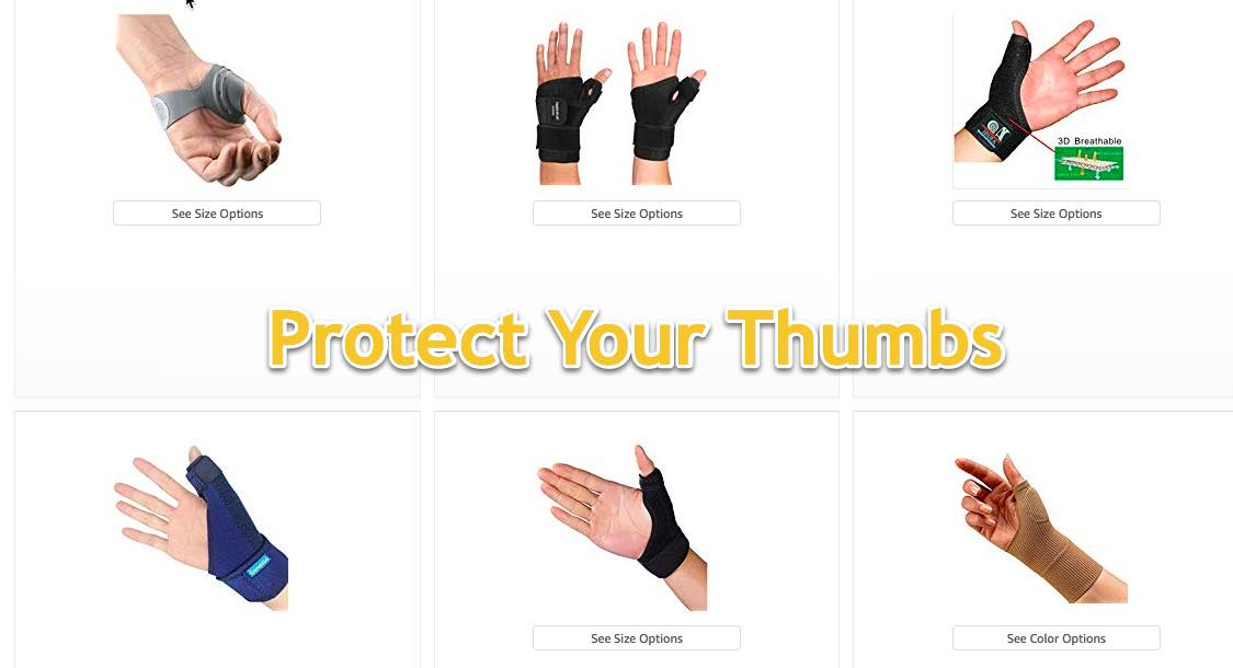 Thumb protection -YES!