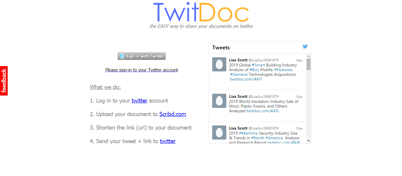 EASY way to share your documents on twitter
